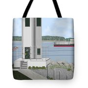 Browns Point Lighthouse On Commencement Bay Tote Bag