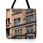 Brownstone Buildings In Chi Town Tote Bag