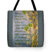 Bruce Lee, Willow Quote Tote Bag