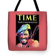 Bruce Springsteen Time Magazine Cover 1980s Tote Bag