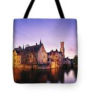 Bruges At Dusk Tote Bag by Barry O Carroll