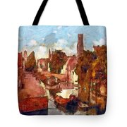 Bruges Canal View Tote Bag