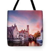Bruges Sunset Tote Bag by Barry O Carroll