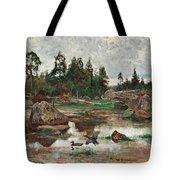 Bruno Liljefors,   Landscape From Uppland. 2 Tote Bag