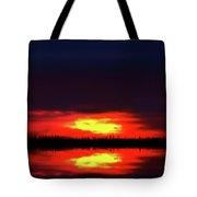 Brush Fire Sunset Tote Bag