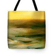 Brushed 4 - Vertical Sunset Tote Bag