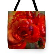 Brushed Flowers Tote Bag