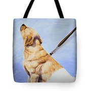 Brushing The Dog Tote Bag