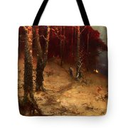 Brushwood Collector Bordering The Woods Tote Bag
