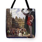 Brussels Commercial Fair Poster - Retro Poster - Vintage Travel Advertising Poster Tote Bag
