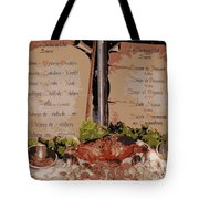 Brussels Menu - Digital Tote Bag