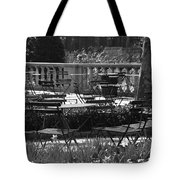 Bryant Park In Black And White Tote Bag