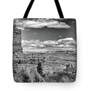 Bryce Canyon In Black And White Tote Bag