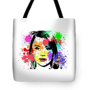 Bryce Dallas Howard Pop Art Tote Bag