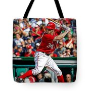 Bryce Harper Washington Nationals Tote Bag