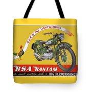 Bsa Bantam Motorcycle Tote Bag