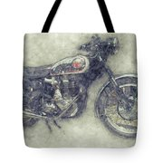 Bsa Gold Star 1 - 1938 - Motorcycle Poster - Automotive Art Tote Bag