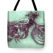 Bsa Gold Star 3 - 1938 - Motorcycle Poster - Automotive Art Tote Bag