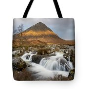 Buachaille Etive Waterfalls Tote Bag
