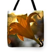 Bubble Blowing Flower Tote Bag