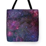 Bubble Nebula And Cave Nebula Mosaic Tote Bag