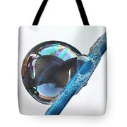 Bubble On Straw Tote Bag
