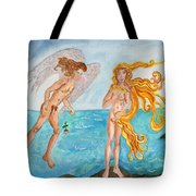 Bubblegum Angel And The Birth Of Venus Tote Bag