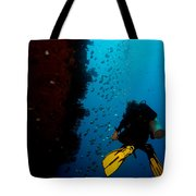Bubbles And Butterfly Fish Tote Bag
