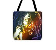 Bubbles By Night Tote Bag