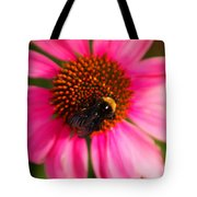Bumble On A Pistil Tote Bag