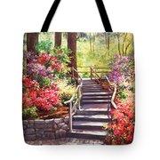 Buchart Garden Stairway Tote Bag