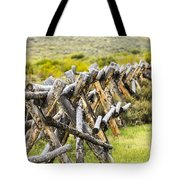 Buck And Rail Fence In The High Country Tote Bag