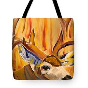 Buck In Fiery Sunset Tote Bag