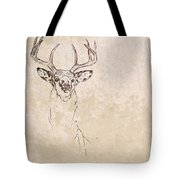 Buck Unfinished Art Tote Bag