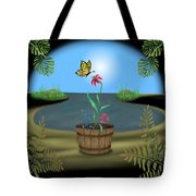 Bucket Butterfly Tote Bag