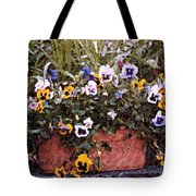 Bucket Of Flowers Tote Bag