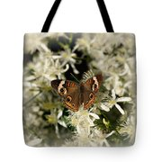 Buckeye On Wildflowers Tote Bag
