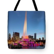 Buckingham Fountain At Dusk II Tote Bag