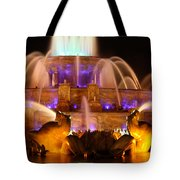 Buckingham Fountain At Night Tote Bag