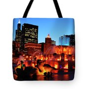 Buckingham Fountain Tote Bag