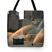 Buckingham Fountain Sidelight  Tote Bag