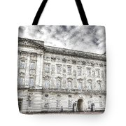 Buckingham Palace London Snow Tote Bag