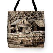 Bucks County - Cuttalossa Mill In Sepia Tote Bag