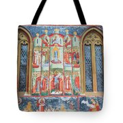 Bucovina Monastery Fresco Tote Bag