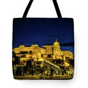 Buda Castle At Night Tote Bag