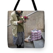 Budapest Flower Woman Tote Bag