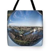 Budapest Globe - Liberty Bridge Tote Bag