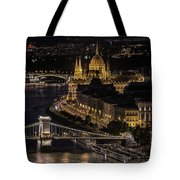 Budapest View At Night Tote Bag
