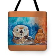 Buddha And The Divine Otter No. 1374 Tote Bag