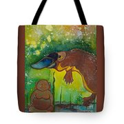 Buddha And The Divine Platypus No. 1375 Tote Bag